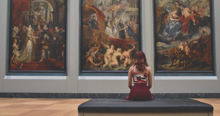 Woman in a Gallery