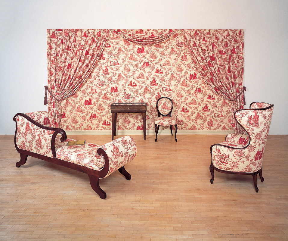 Renée Green, in collaboration with The Fabric Workshop and Museum, Philadelphia, Mise-en-Scène: Commemorative Toile (exhibition view), 1992